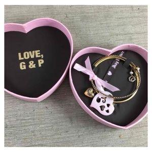 Juicy Couture 3 Gold Charm Bangle Bracelets